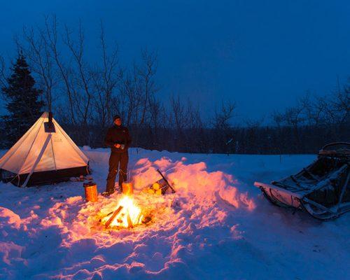 Campement hiver