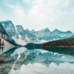 Vue lac et montagne Canada