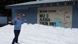 Panneau Welcome to Hyder